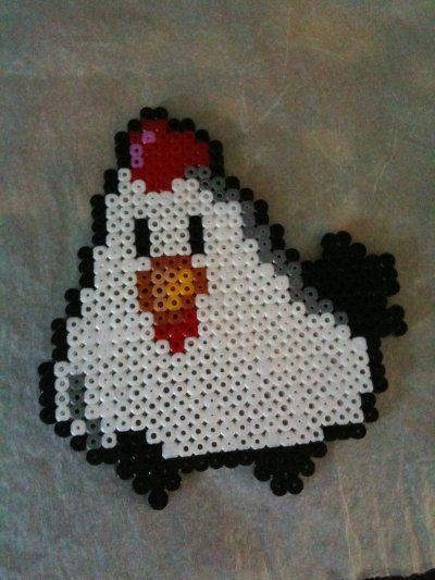 Chicken hama perler by Fifinath78
