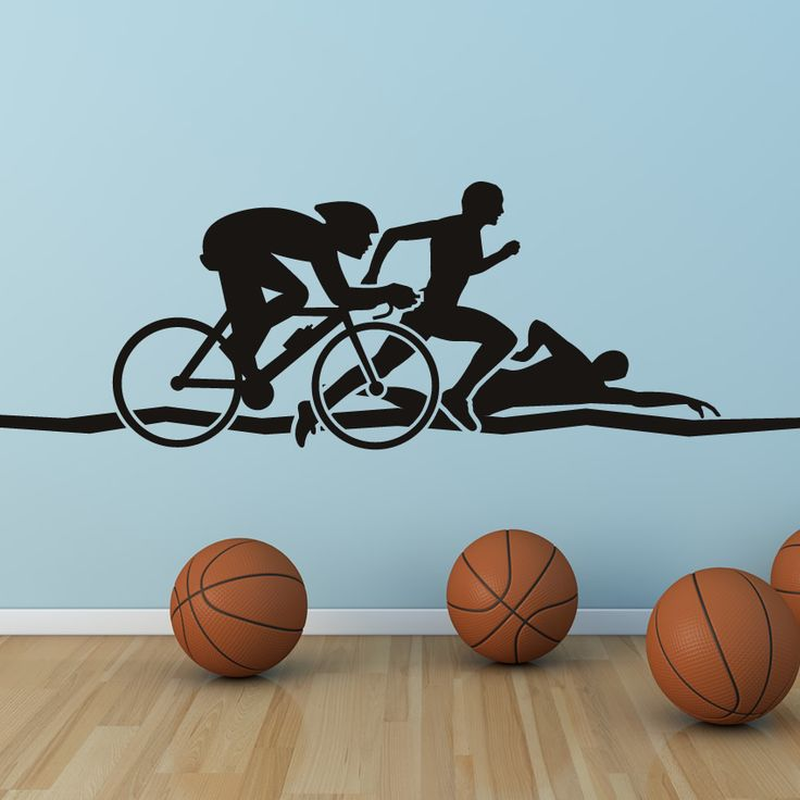 Triathlon-Athletics-Wall-Art-Sticker-Wall-Decals-Transfers