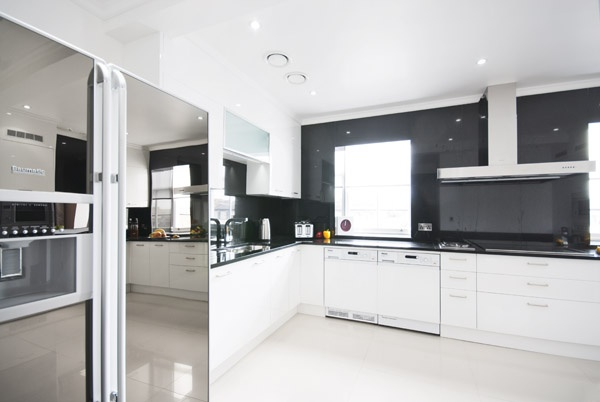 Sleek appliances at 130 Queen's Gate Apartments in South Kensington