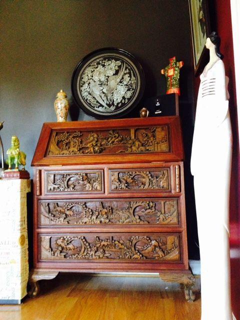 Asian desk in tea room