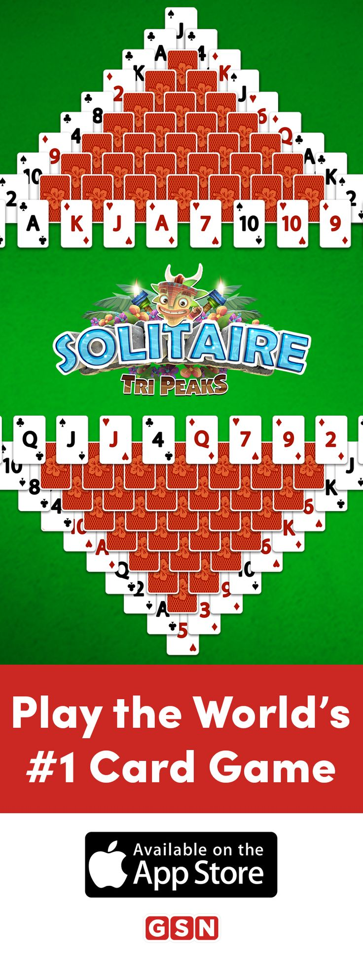 Play the hottest solitaire game around and download Solitaire TriPeaks today. Register now, and you'll get 12,500 Coins on the house. Play this popular game and challenge yourself with over 850 levels.   https://itunes.apple.com/us/app/solitaire-tripeaks/id892521917?mt=8