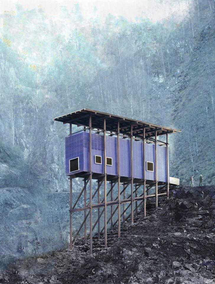 Zinc mine museum at Allmannajuvet by Peter Zumthor