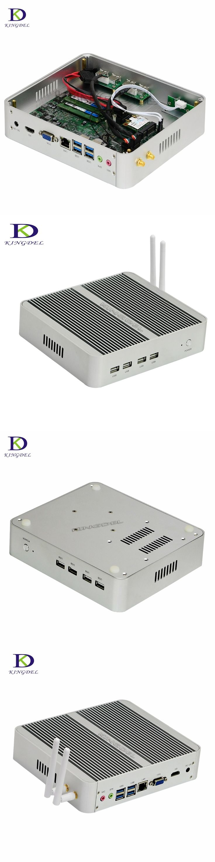 Kaby Lake Core i5 7200U Nuc Mini PC Windows 10 HDMI+VGA Mini PC i5 mini computer 4K HTPC 16G RAM 256G Fanless Nettop PC