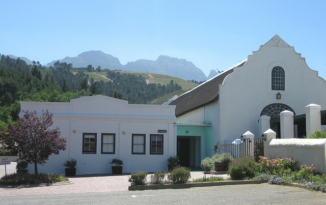 Beautiful Cape Dutch Architecture, Morgenhof Winery, Cape Town, South Africa