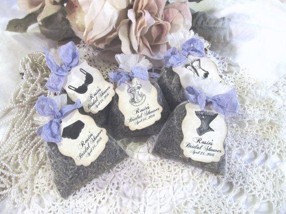 Lingerie Shower Favor Organza Mini Lavender by auntiesjammies