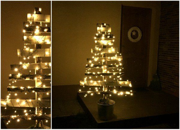 Öko karácsonyfa, lécekből - Masni / DIY christmas tree made of wood slats