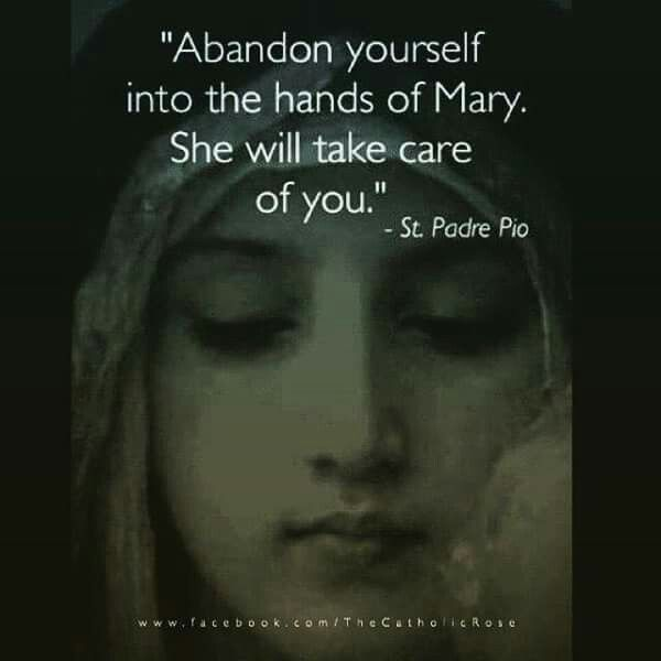 St. Pio quotes. Catholic. // AFTER AL, SHE IS OUR MOTHER! ♥A