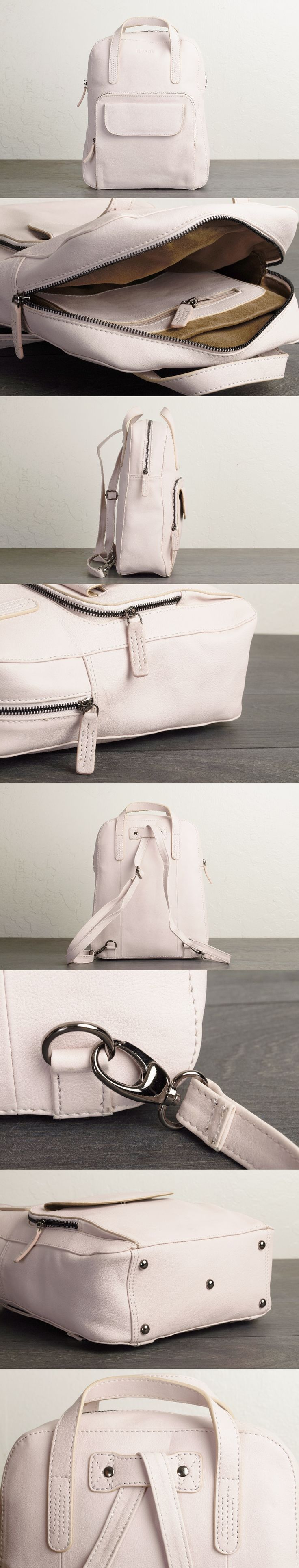 Stunning convertible #backpack purse by #TheLeatherExpert that transitions into an elegant handbag with just a quick adjustment of the removable shoulder strap. - black and white purse, best women's handbags, latest handbags online shopping *ad