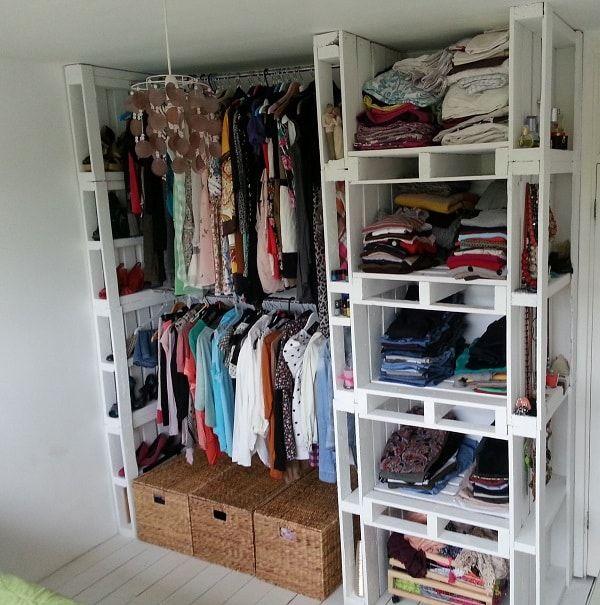 Hacer un vestidor con palets