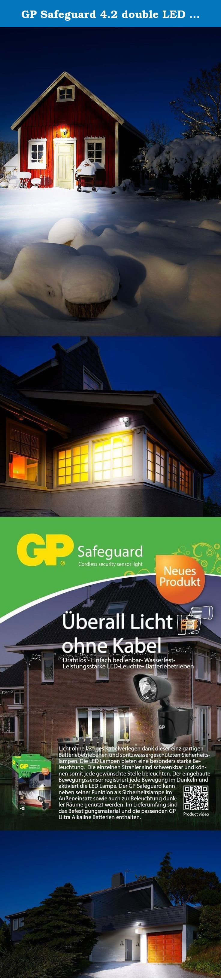 GP Safeguard 4.2 double LED battery light with motion detector [GP-SAFE4]. This is the GP Safeguard 4.2 double LED Battery light with motion detector [GP-SAFE4] Light where it is needed • Wireless (battery powered) • Easy to install • Water-resistant • Switches on automatically if movement is detected in the dark • Simple process for replacing batteries • Light can be adjusted in all directions ...Contact us if you need more help.