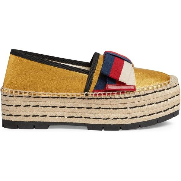 Gucci Leather Espadrille With Sylvie