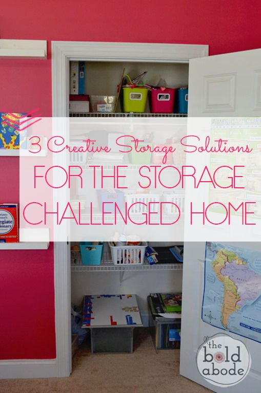 Three Creative Storage Solutions