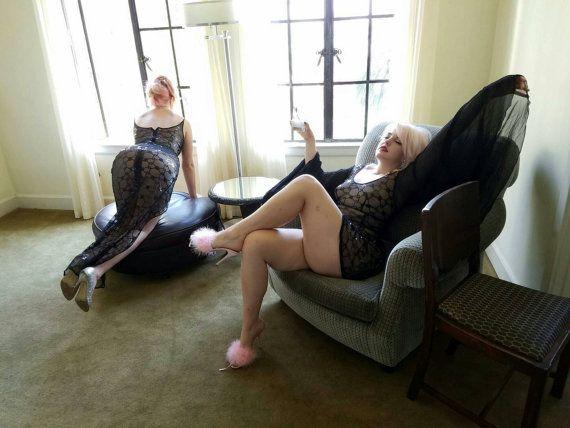 Starlet Film Noir Naked Dress in sheer mesh by DaintyRascal