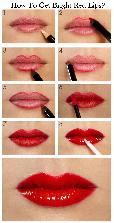 Red lipstick on my dick