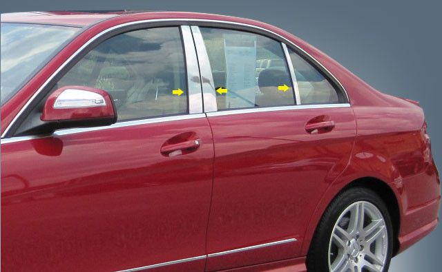 C CLASS 2008-2011 MERCEDES (6 pieces: Pillar Post Trim Kit) PP28082