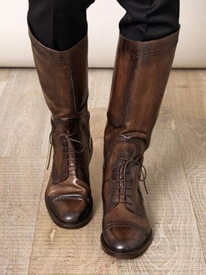 Gucci Brogue riding boots
