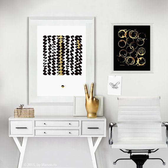 Abstract print Geometric Poster Line Art by JAnoveltyDeSign