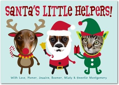 Little Helpers - $1.49  christmas cards http://www.planetgoldilocks.com/free-ecards.htm #cards for the Holidays #christmascards #greetingcards #holidaycards #onlinecards