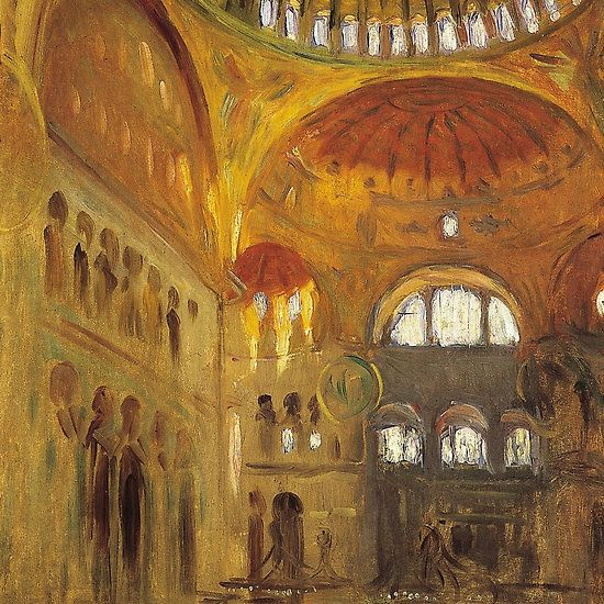 Interior of Santa Sophia, Constantinople, John Singer Sargent