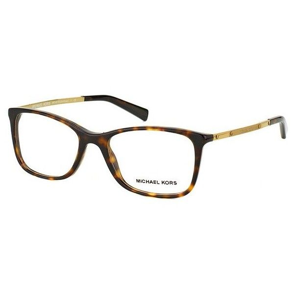 Michael Kors Antibes MK 4016 3006 Dark Tortoise Square Plastic... ($110) ❤ liked on Polyvore featuring accessories, eyewear, eyeglasses, tortoise, tortoise eyeglasses, michael kors eyewear, plastic glasses, michael kors glasses and tortoise glasses