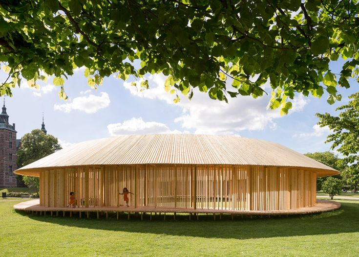 Christiansen and Andersen's wooden pavilion in Copenhagen