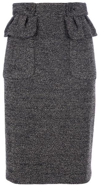 Burberry p Tweed Pencil Skirt