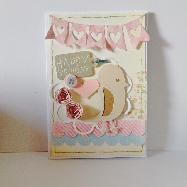 cards by vicki: Birthday tweets Silhouette cameo Print and cut