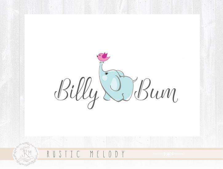 Elephant Logo Design Baby Logo Design Boutique by RusticMelody1