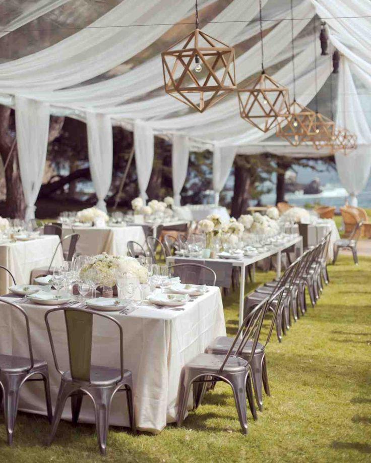 do you invite officiant to wedding reception%0A Geometric Decor   Martha Stewart Weddings    The wedding design was really  a balance of