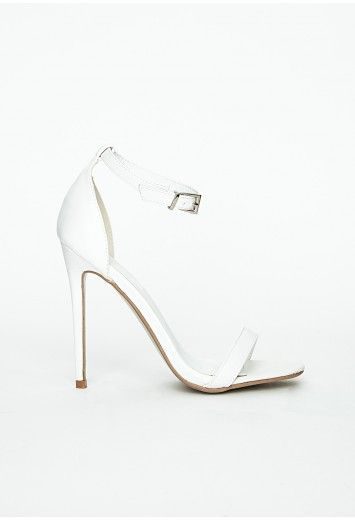 This simple but very effective #white #strappy #sandal will guarantee you're way ahead in the style stakes this summer. Team with a casual look to add glamour and be right on trend.