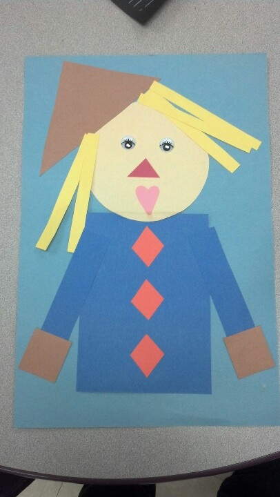 scarecrow for shape day  i love doing preschool lessons