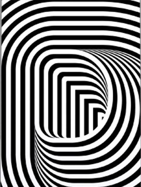 Op art Optical Illusions: What do you see? Crazy effect.pin it Annimo de  la