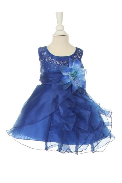 Iyla - Royal Blue Stone Beaded Pageant Baby DressCC1101 - Stone Beaded Baby Pageant Dress Crystal Beaded Baby Dress Fully lined Crystal Organza and Satin Baby dress is cut to fit Newborn to 24 month Toddler Match Older sibling Dress Style Also Available Available in 12 Bright Pageant Colors