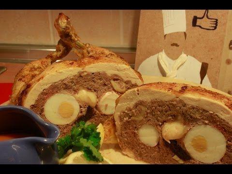 Pollo relleno al horno sin huesos - Receta para Navidad Low Cost, #200 - Cocina en video.com - YouTube
