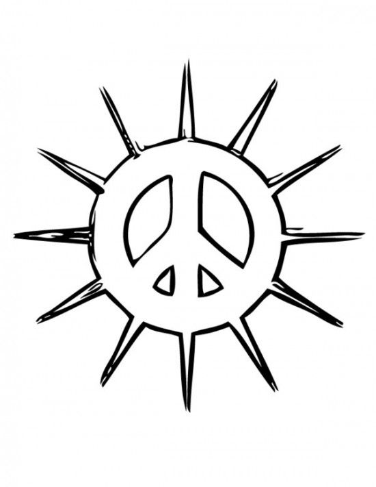 Free Printable Peace Sign Coloring Pages / All About Free