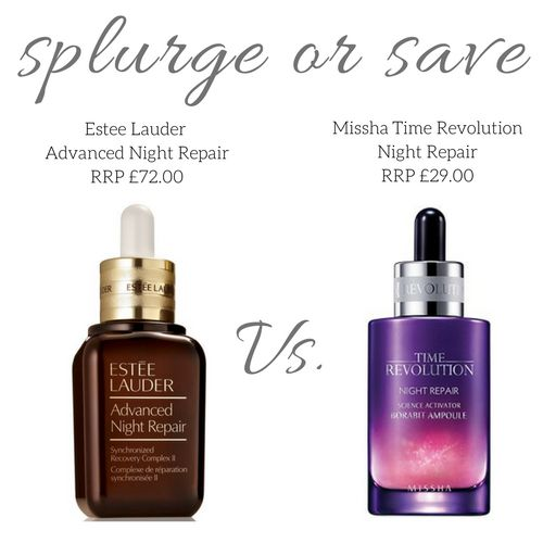 Splurge or Save: Estée Lauder Vs. Missha - Advanced Night Repair