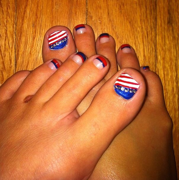 282 best things i love images on pinterest nail nail nails 4th of july toe nail design prinsesfo Image collections
