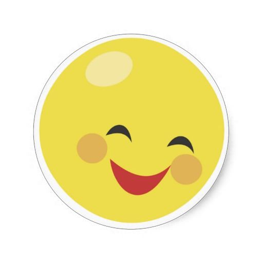 Cute Smiley Faces | Sad Crying Cute Smiley Face Round Stickers
