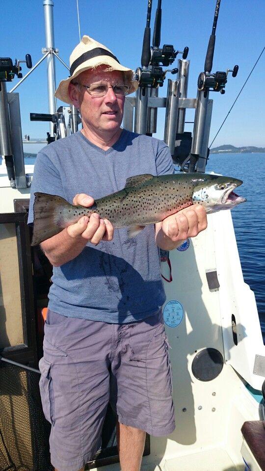 Gullik Nilsson with a Trout 1,9 kilo