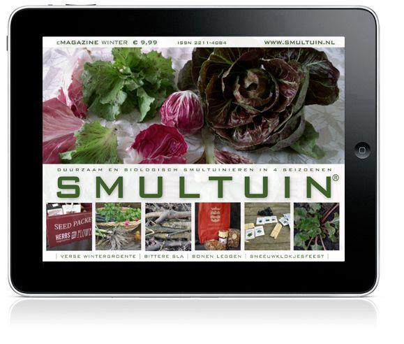 SMULTUIN is hèt digitale tijdschrift voor liefhebbers van smakelijk, biologisch en gezond eten uit eigen moestuin. Ieder seizoen een nieuwe editie met sfeervolle verhalen, handige achtergrondinformatie, inspiratie, nuttige tips en lekkere recepten. Geen advertenties; alleen maar informatie waar jij wat aan hebt. Goed leesbaar op laptop, PC en tablet.