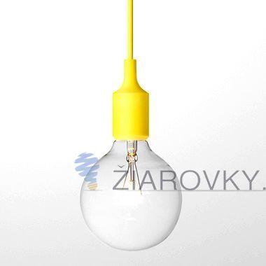 Závesný silikónový luster s textilnou zatočenou šnúrou v žltej farbe. Závesné svietidlo (stropné svietidlo, luster) je kvalitný a zároveň moderný typ stropného lustru vyrobené z kvalitného silikónu. Vodič (drôť) je obalený v zakrútenej textilnej šnúre. Tento moderný typ lustra nemôže vo Vašej obývacej izbe, jedálni alebo spálni chýbať. Luster ponúka jednoduchú konštrukciu vyrobenú zo silikónu a textílu. www.ziarovky.eu