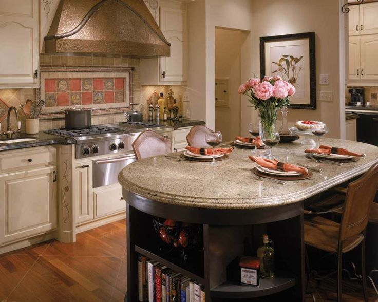 Kitchen Counter Table Kitchen Layouts And Lovely Lighting  A - kitchen table decorating ideas