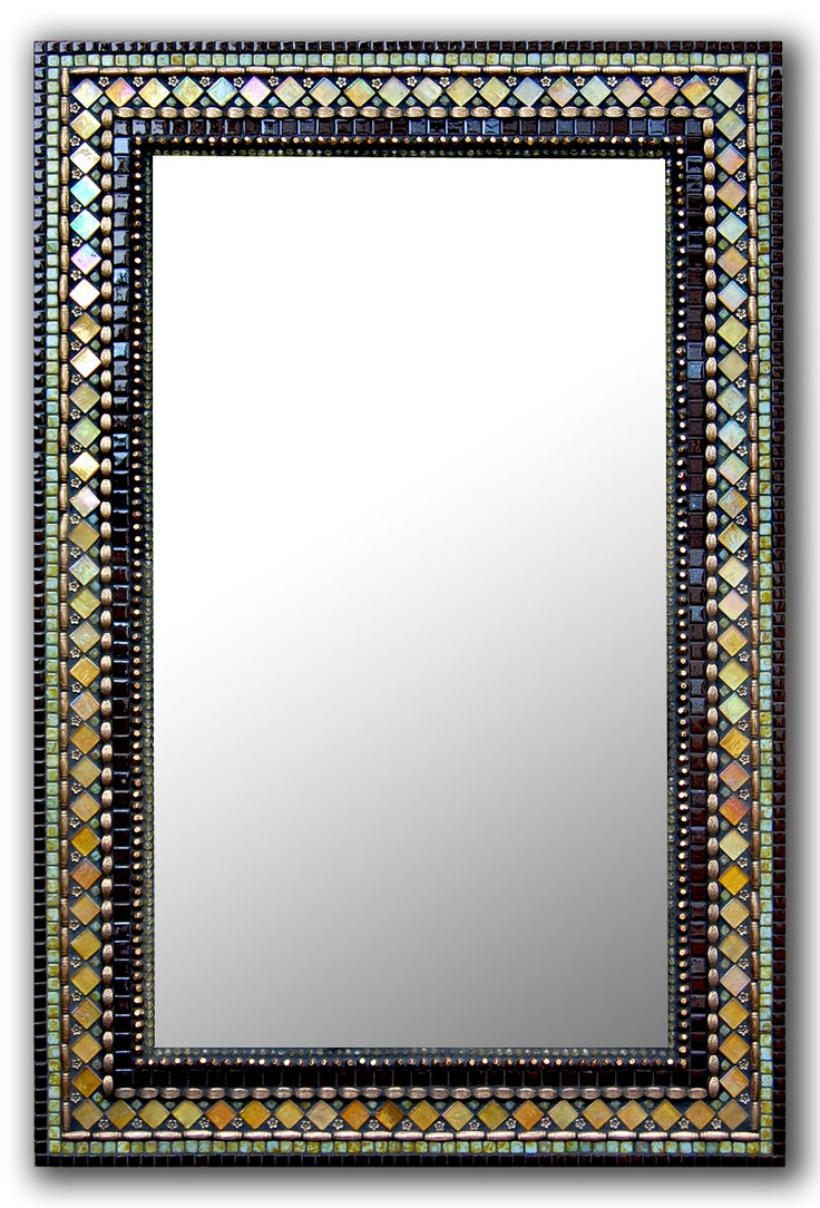 Brick Chocolate Mirror | Zetamari Mosaic Artworks | CasaTessa