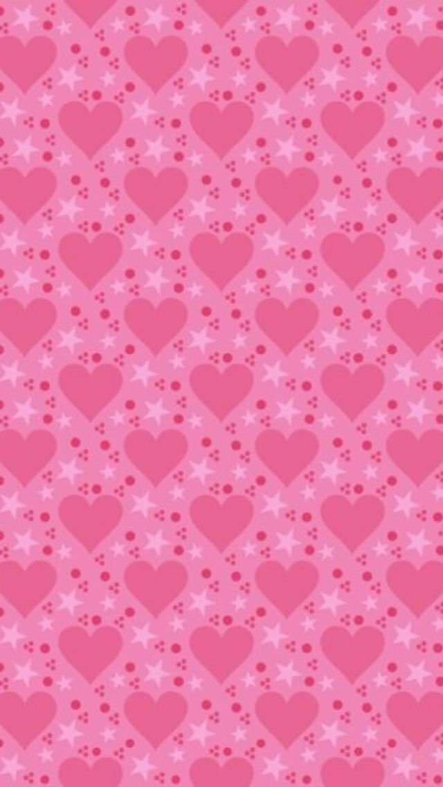 Pink Hearts & Stars Wallpaper.