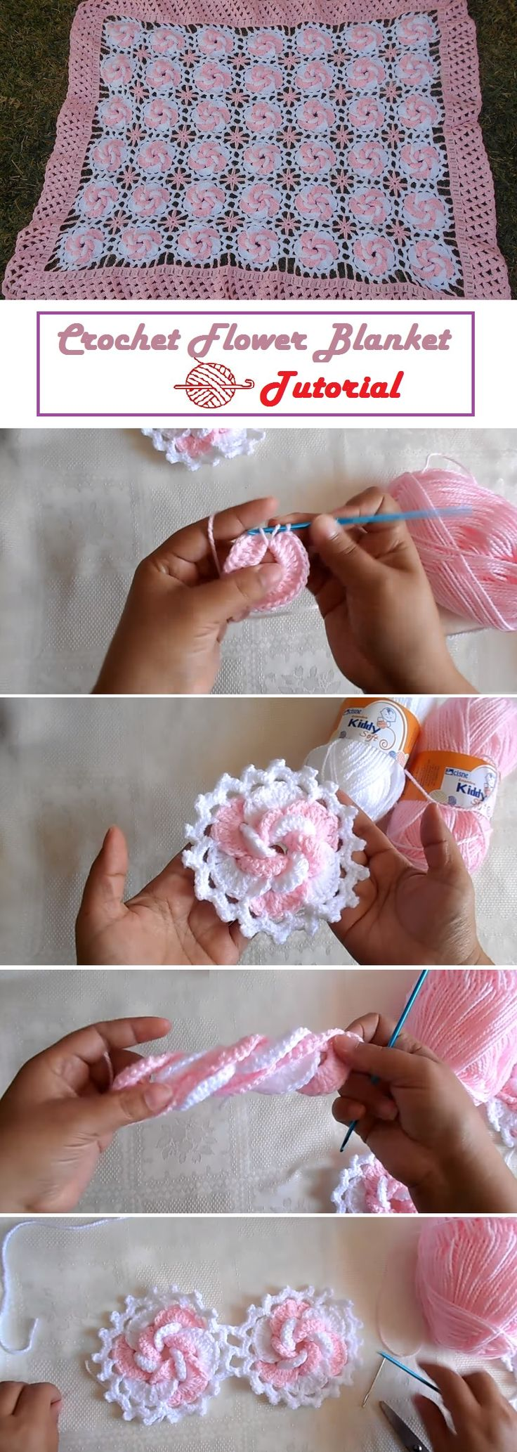 From Flowers to a Beautiful Crochet Blanket