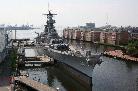 old battleships at norfolk naval base | Norfolk Virginia Battleship Iowa 61