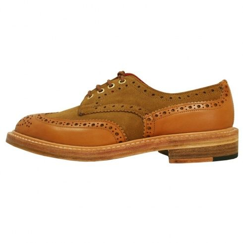 Tricker's Trickers Derby Two tone Brogue Shoes