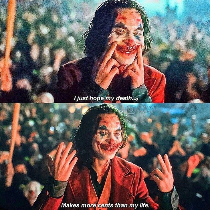 Life Quotes Classic Moives TV Series Joker 2019