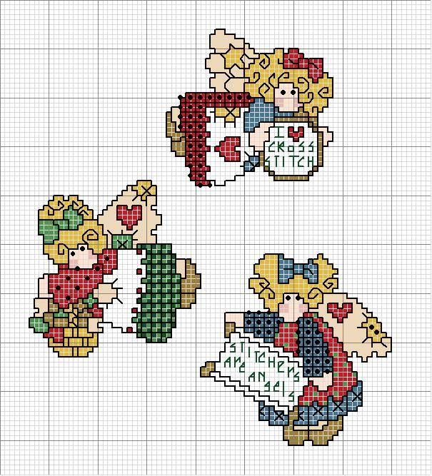 Schema punto croce Piccoli-angeli