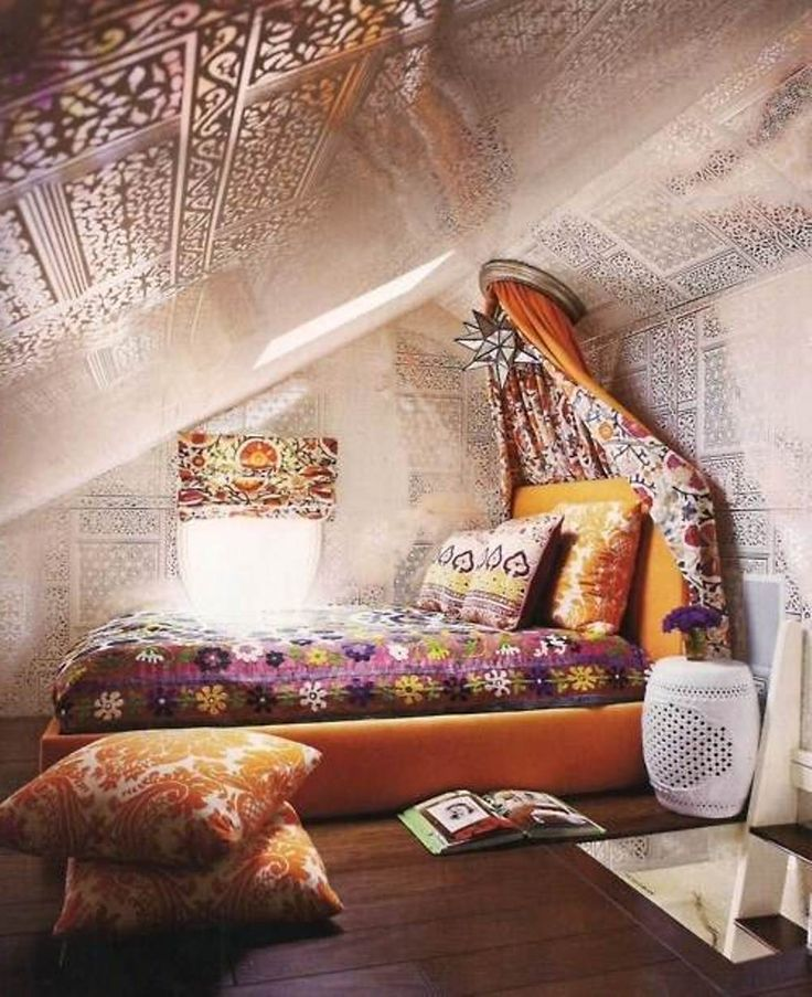Bohemian attic room dwell interiors pinterest An attic room